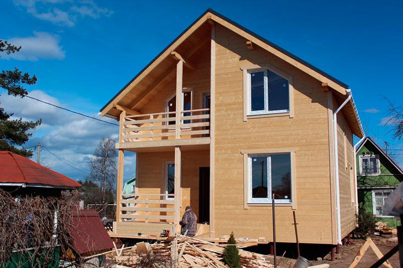 Каркасный дом, построенный компанией