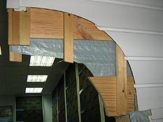 Вид на пирог изнутри помещения