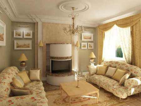 Английский стиль в дизайне интерьера гостиной