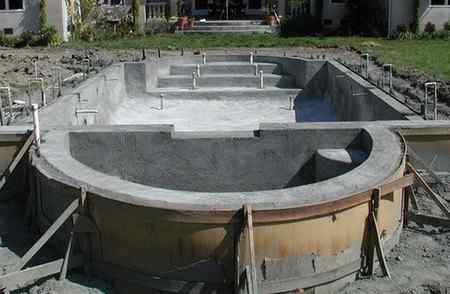 Этапы строительства монолитного бассейна