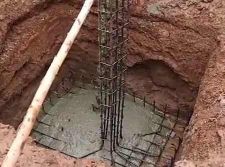 Заливка бетонных колонн своими руками