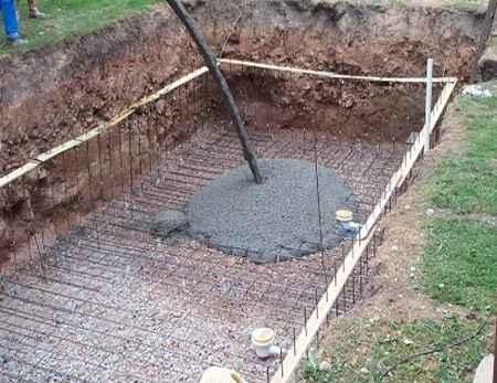 Строительство бетонной чаши