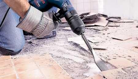 Подготовка поверхности после демонтажа керамогранита