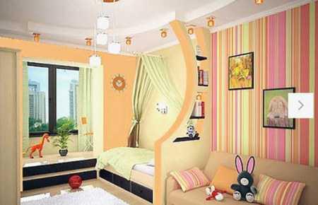 Интересный интерьер в детской комнате