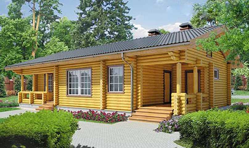 Дом из оцилиндрованного бревна - преимущества