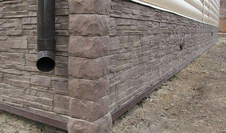 Монтаж фасадных панелей для цоколя