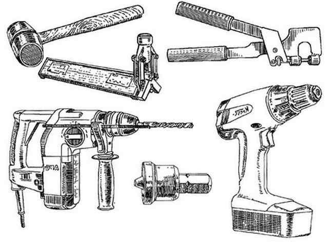 Инструменты для скрепления профилей