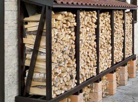 Как сделать дровяник своими руками из поддонов