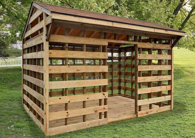 Как построить дровяник - этапы