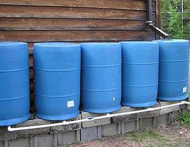 Сбор дождевой воды с крыши
