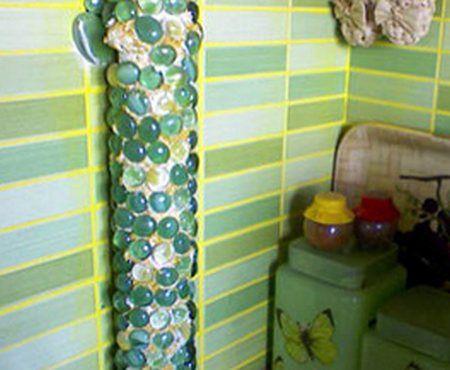 Декор газовой трубы на кухне