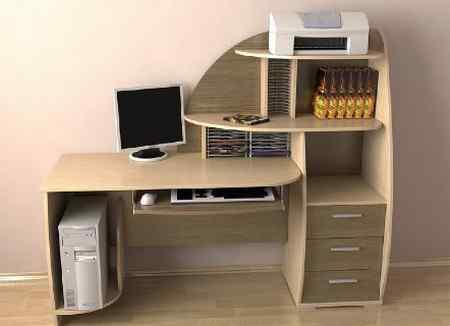 Виды компьютерных столов