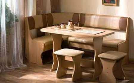 Материалы изготовления кухонных диванов