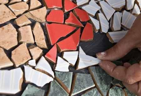 Укладка мозаики на бумагу или пол
