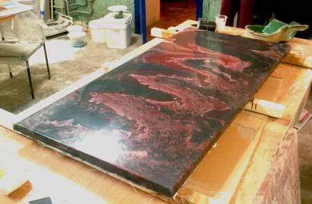 Мрамор из бетона своими руками – состав, пропорции, изготовление
