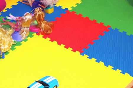 Мягкий пол-пазл для детской комнаты
