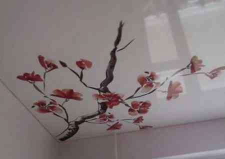 Минусы натяжных потолков с рисунком