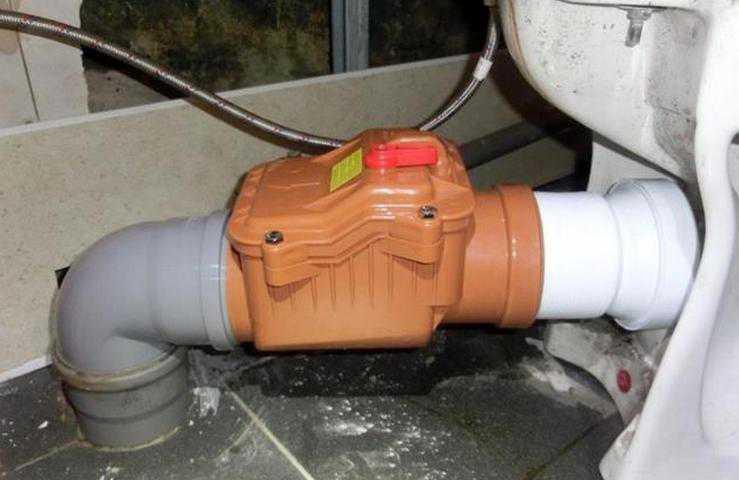 Как установить обратный клапан для канализации