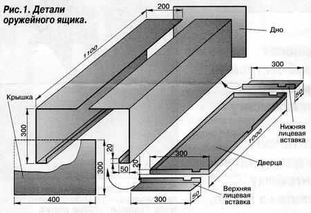 Чертеж и схема оружейного шкафа
