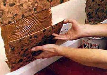 Отделка стен пробковой плиткой своими руками