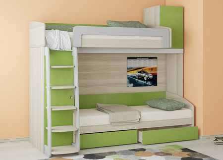 Минусы двухъярусных кроватей