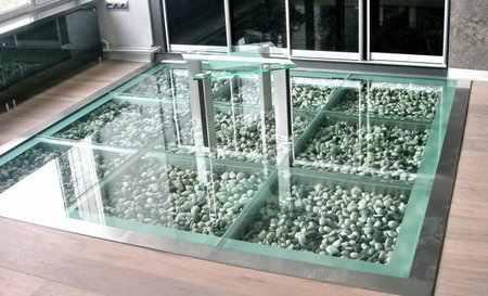 Какие бывают стеклянные полы?