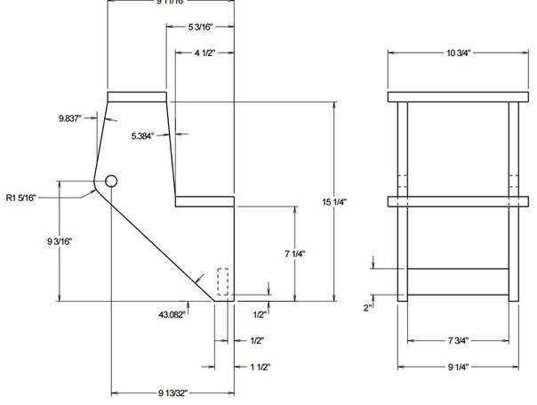 Стул-лестница трансформер - схема и чертежи