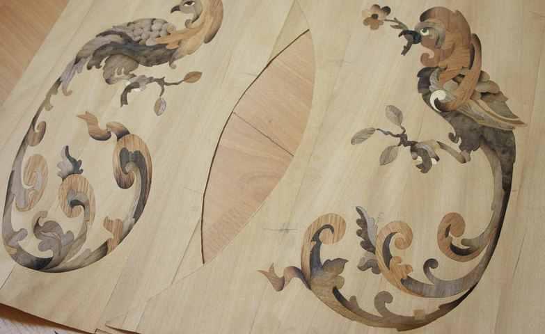 Техника маркетри или деревянная мозаика своими руками