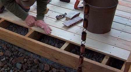 Укладка террасной доски открытым способом