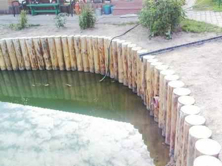 Укрепление берега габионами