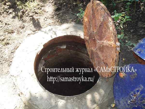 Установка канализационного люка
