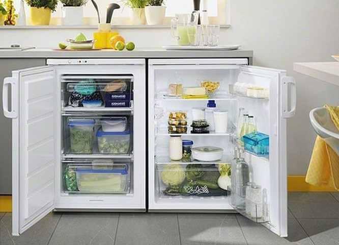 Встраиваемые холодильники под столешницей