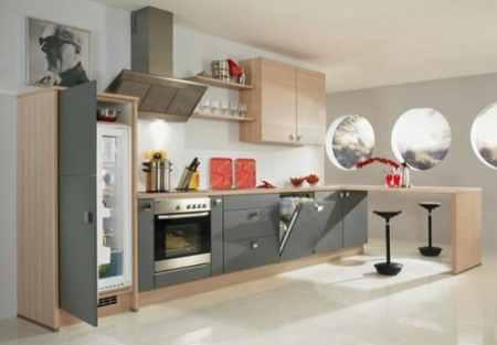 Размеры встраиваемого холодильника