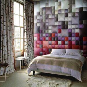 Декоративная отделка стен тканью