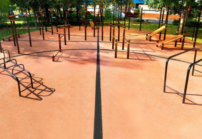 Резиновое покрытие для спортивного и тренажерного зала
