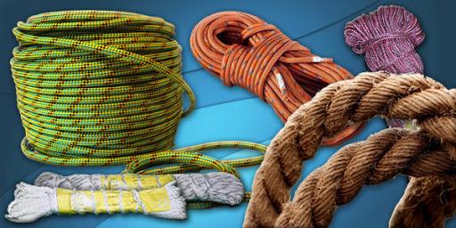 Продажа канатов и веревок, средства крепежа