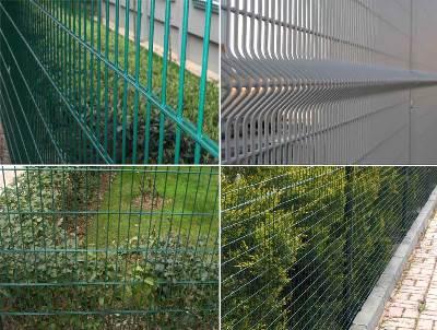 Зеленый забор в Николаеве. Металлическая сетка с декоративным ПВХ покрытием «хвоя»